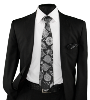 High Definition Tie with Round Hanky-19022 HDMWTR-19022