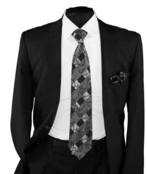 High Definition Tie with Round Hanky-19023 HDMWTR-19023