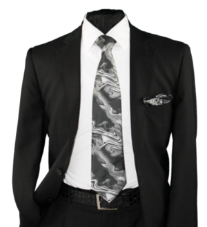 High Definition Tie with Round Hanky-19026 HDMWTR-19026