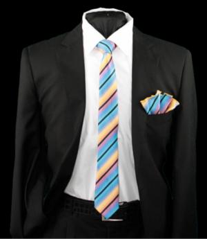 Skinny Tie and Hanky 19051 SKTH-19051