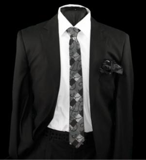 Skinny Tie and Hanky 19062 SKTH-19062