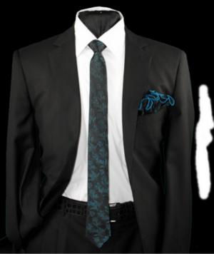 Skinny Tie and Hanky 19063 SKTH-19063