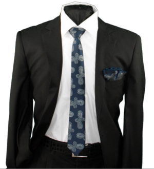 Skinny Tie and Hanky 19067 SKTH-19067
