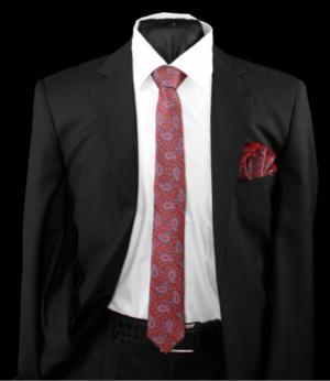 Skinny Tie and Hanky 19068 SKTH-19068