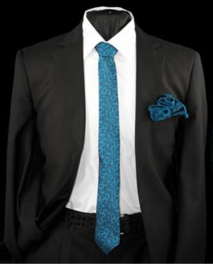 Skinny Tie and Hanky 19069 SKTH-19069
