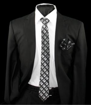 Skinny Tie and Hanky 19073 SKTH-19073