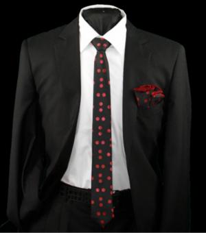 Skinny Tie and Hanky 19078 SKTH-19078