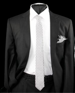 Skinny Tie and Hanky 19081 SKTH-19081
