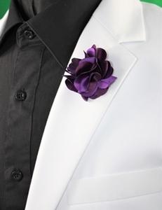 Petal Lapel Flower-15144 Purple PLF-15144Purple