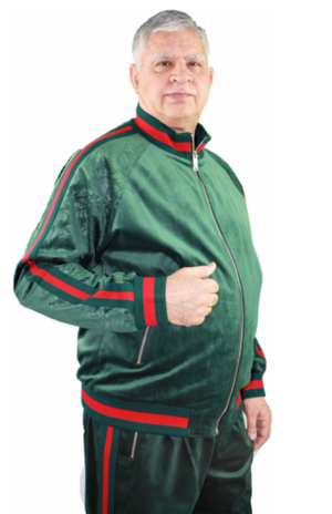 Sweat Suit Stripe-Green stripe-green