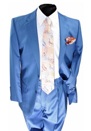 Business 2 Button Suit Blue b2bsblue