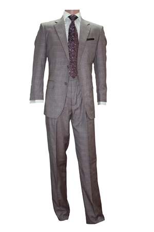 2pc 2button Basic Suit Only-Brown 2pcsuitonlybrown