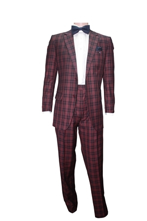 2pc 2button Basic Suit Only-Burgundy 2pcsuitonlyburgundy