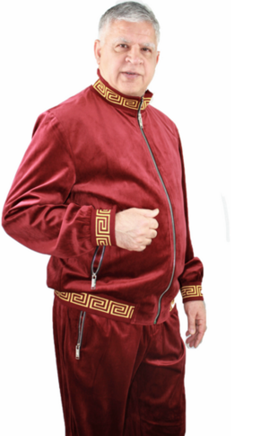 Sweat Suit Greek-Burgundy greek-burgundy