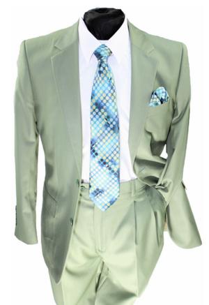 Business 2 Button Suit Green b2bsgreen