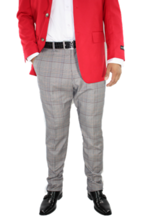Checkered Slim Fit Pants- Multi Color csfpmulti