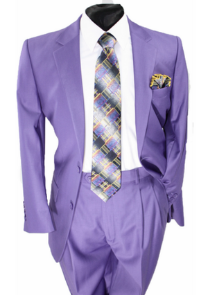 Business 2 Button Suit Purple b2bspurple