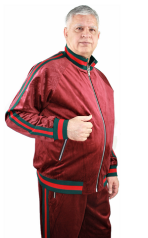 Sweat Suit Stripe-Burgundy stripe-burgundy