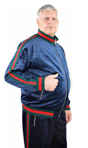 Sweat Suit Stripe-Navy stripe-navy