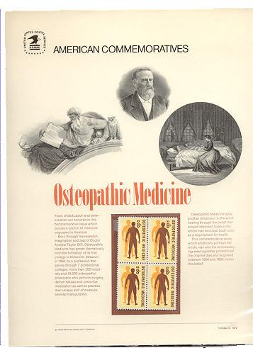 1469 8c Osteopathic Medicine USPS Cat. 3 USPS Comm. Panel #cp003