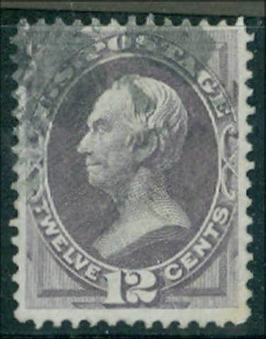140 12c Clay dull violet with H Grill Used AVG-F #140usedavg
