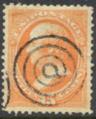 152 15c Webster, bright orange, without grill, Used   F-VF #152used