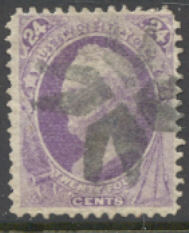 153 24c Scott, purple, without grill, Used   F-VF #153used