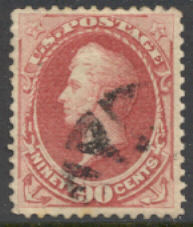 155 90c Perry, carmine, without grill, Used F-VF #155used