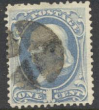 156 1c Franklin, ultramarine, Used Minor Defects #156usedmd