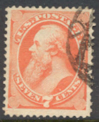 160 7c Stanton vermillion, Continental Printing,  Used  F-VF #160used
