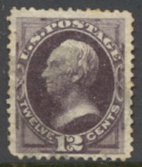 162 12c Clay, blackish violet, Used Minor Defects #162usedmd