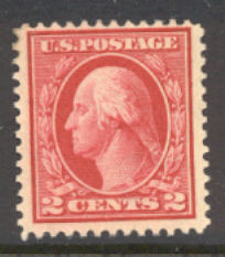 499 2c Washington, rose, Type I, F-VF Unused OG #499og