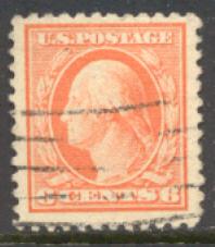 506 6c Washington, red orange, Used F-VF #506used