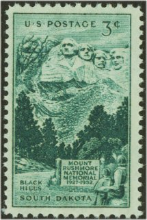 1011 3c Mount Rushmore F-VF Mint NH #1011nh