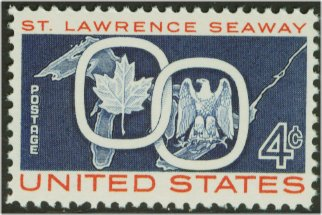 1131 4c St. Lawrence Seaway F-VF Mint NH Plate Block of 4 #1131pb