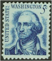 1283 5c Washington, original F-VF Mint NH Plate Block of 4 #1283pb