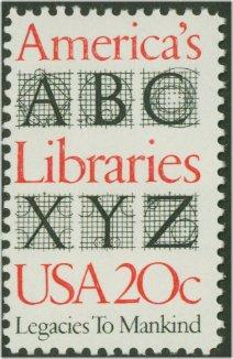 2015 20c Libraries F-VF Mint NH #2015nh