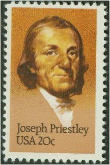 2038 20c Joseph Priestley F-VF Mint NH Plate Block of 4 #2038pb