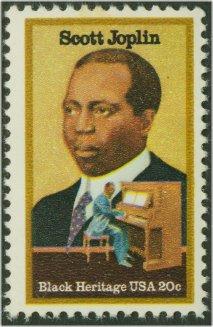 2044 20c Scott Joplin F-VF Mint NH Plate Block of 4 #2044pb