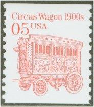 2452B 5c Circus Wagon Gravure Coil Used Single #2452bused