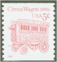 2452D 5c Circus Wagon (1995 added) Coil F-VF Mint NH #2452dnh
