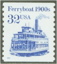 2466 32c FerryBoat Coil F-VF Mint NH #2466nh