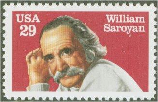 2538 29c William Saroyan F-VF Mint NH #2538nh