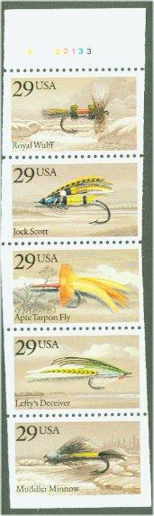 2545-9 29c Fishing Flies F-VF Mint NH #2545-9nh