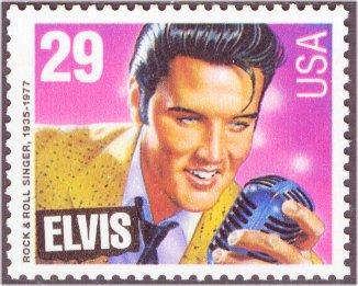 2721 29c Elvis Presley Plate Block #2721pb