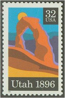 3024 32c Utah Statehood Plate Block #3024pb