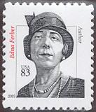 3434 83c Edna Ferber 2003 Plate Block #23434pb
