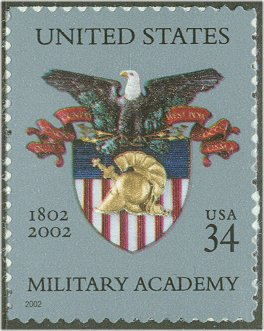3560 34c Military Academy F-VF Mint NH #3560nh
