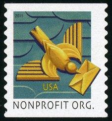 4495 (5c) Art Deco Bird SA Coil Used Single #4495used