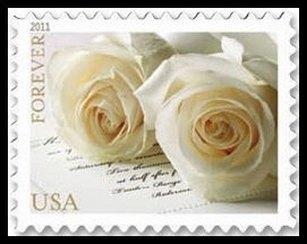 4520 Forever Wedding Rose Mint NH Plate Block #4520pb